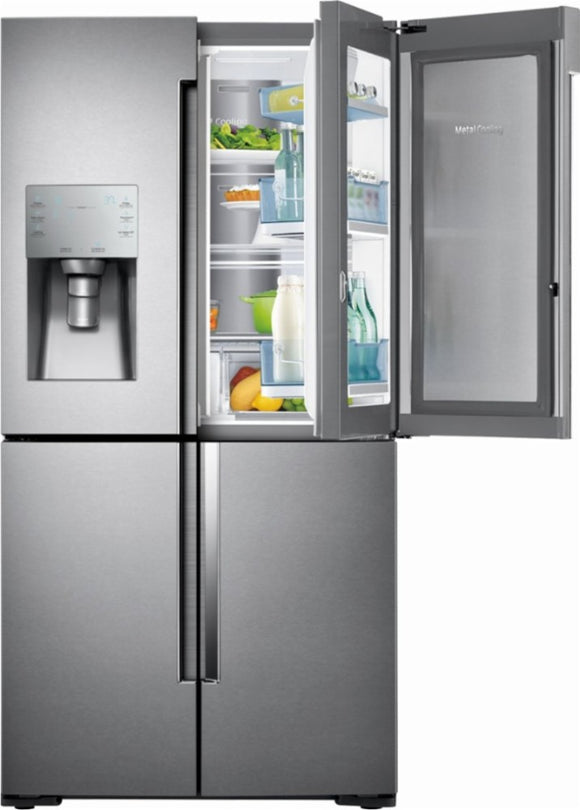 Samsung - ShowCase 28 Cu. Ft. 4-Door Flex French Door Refrigerator