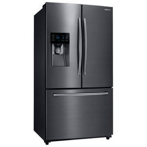 "Samsung 36"" 24.6 Cu. Ft. French Door Refrigerator with LED Lighting (RF263BEAESG) - Black Stainless"
