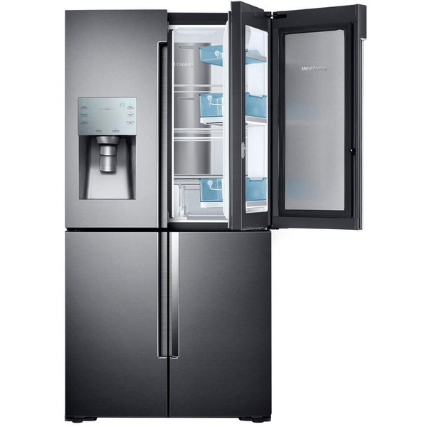 Samsung 28 cu. ft. 4-Door Flex French Door Refrigerator in Black Stainless
