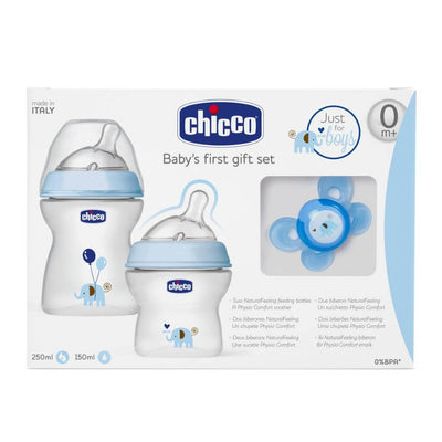Chicco Gåvoset Natural Feeling Blå (2243040346210)