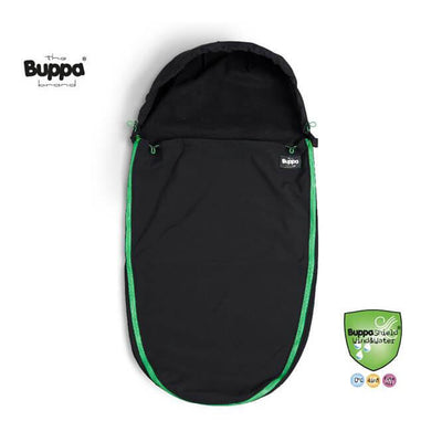 The Buppa Brand Åkpåse Softshell AllBlack Green (1930252877922)