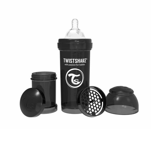 Twistshake Anti-Kolik Nappflaska 260ml Svart (2069523529826)