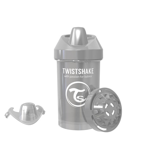 Twistshake Crawler Cup 300ml Ljusgrå (2069895118946)
