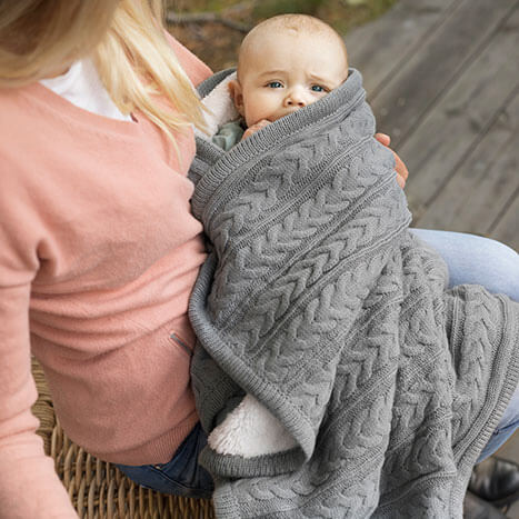 Vinter & Bloom Cuddly Filt Dove Grey - Minijoy