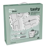 Done by Deer Middagsset Toddler Happy dots Grå