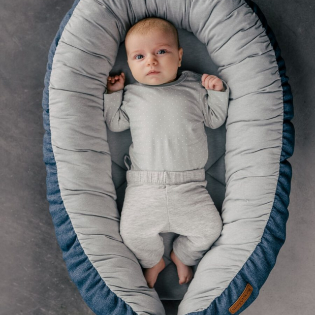 EcoViking Babynest SleepyViking Blå
