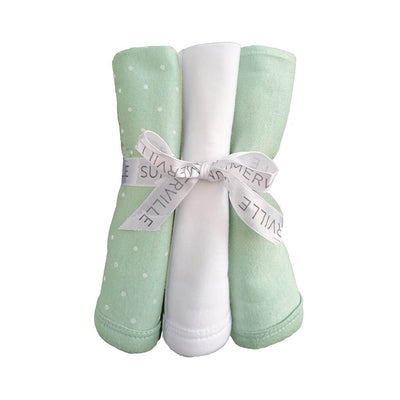 Summerville Organic Snuttefilt 3-pack Eko Dotty Soft Mint (2224137109602)