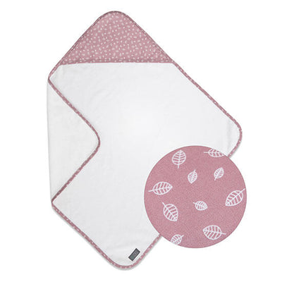 Vinter & Bloom Badcape Nordic Leaf Soft Pink (1912184078434)
