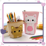 CuteSchool™ - Trousse se Transformant en Pot à Crayon