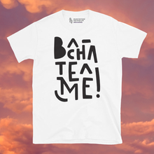 Load image into Gallery viewer, Bachateame! White Unisex T-Shirt