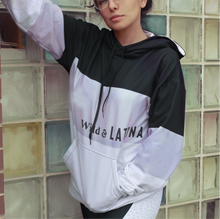 Load image into Gallery viewer, Wild & Latina Lilac/Black Women Hoodie with brushed fleece inside
