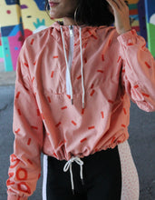 Load image into Gallery viewer, Goza Peach Women's Cropped Windbreaker Jacket