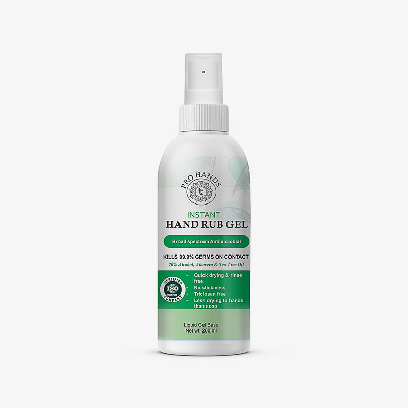 Instant Hand Sanitising Gel-  70% Alcohol, Aloevera and Tea Tree Oil
