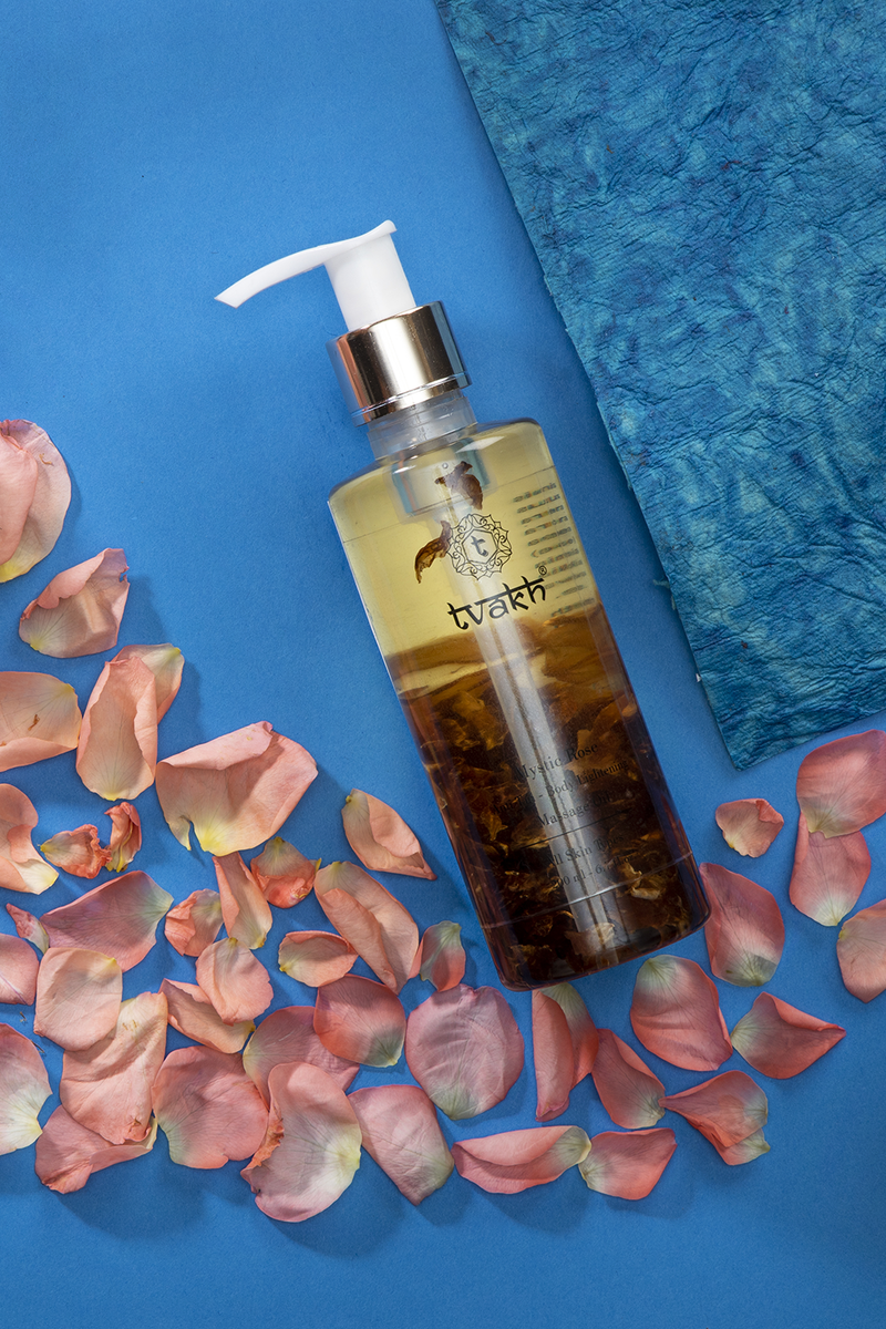 Anti Tan Body Lightening Massage Oil → Mystic Rose