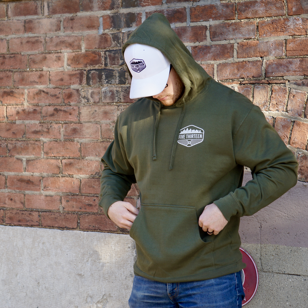 Army Green-Crest Hoodie