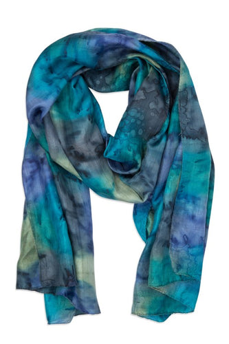 Waterfall Painted Scarf