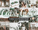 Mobile Lightroom Preset *CEDAR GROVE*