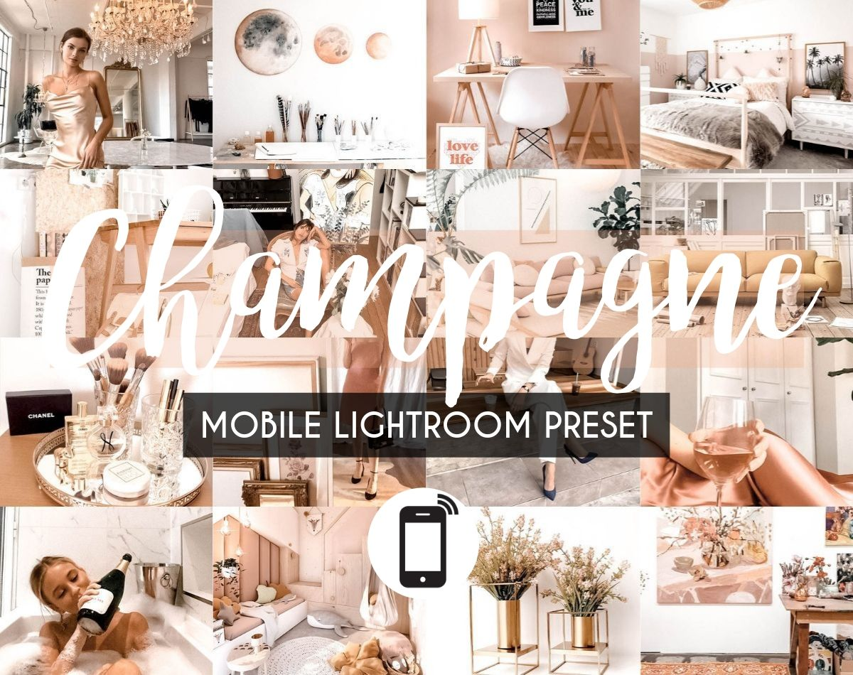 Mobile Lightroom Preset *CHAMPAGNE*