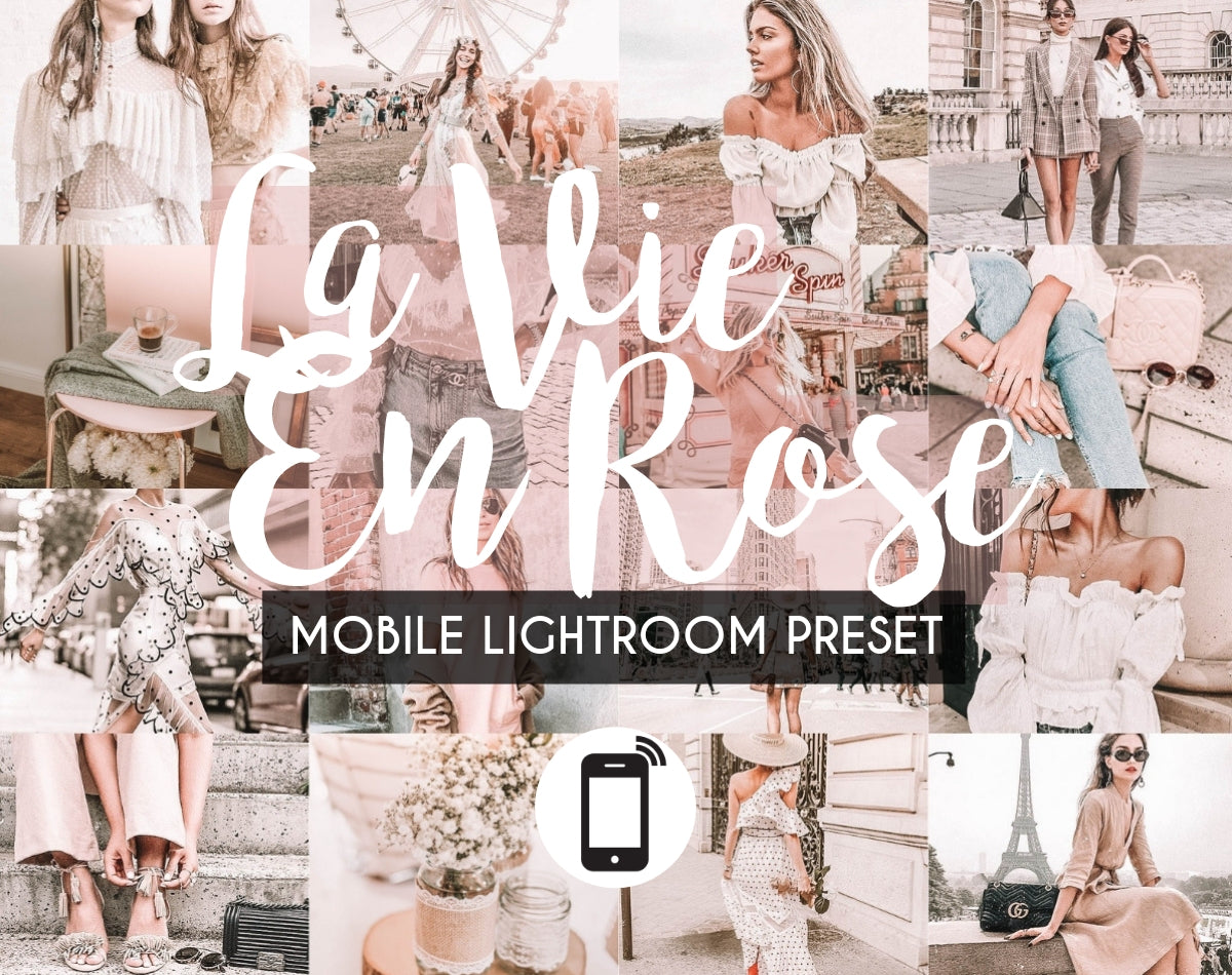 Mobile Lightroom Preset *LA VIE EN ROSE*