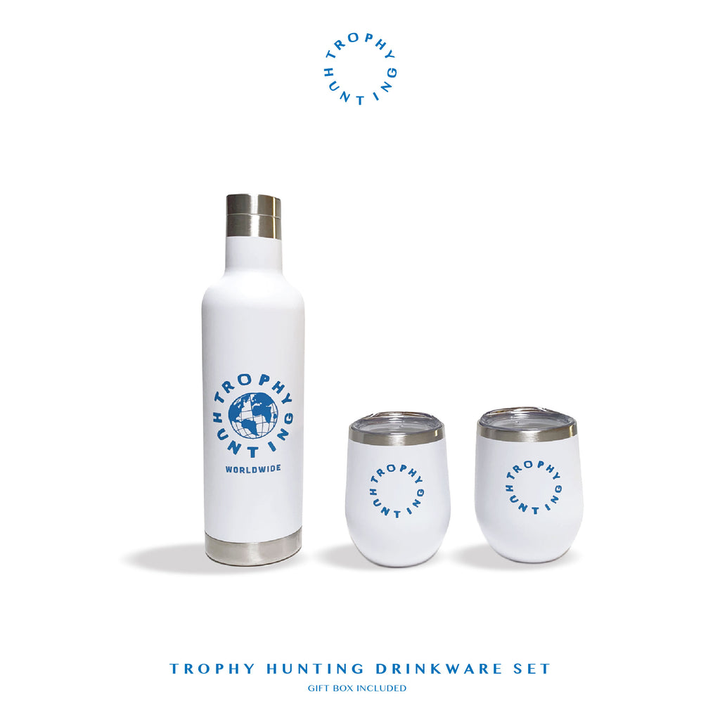 TROPHY HUNTING DRINKWARE SET