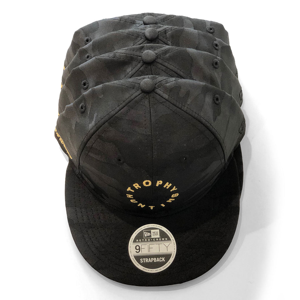 NEW ERA LOGO RETRO CROWN STRAPBACK -BLACK CAMO