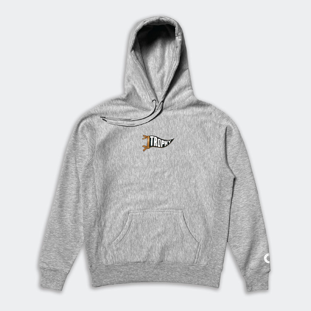 PENNANT HOODIE - GREY HEATHER