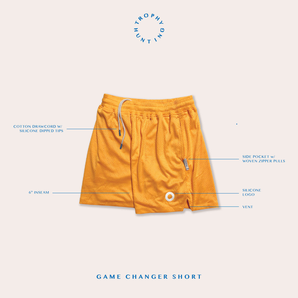 GAME CHANGER SHORTS - GOLD