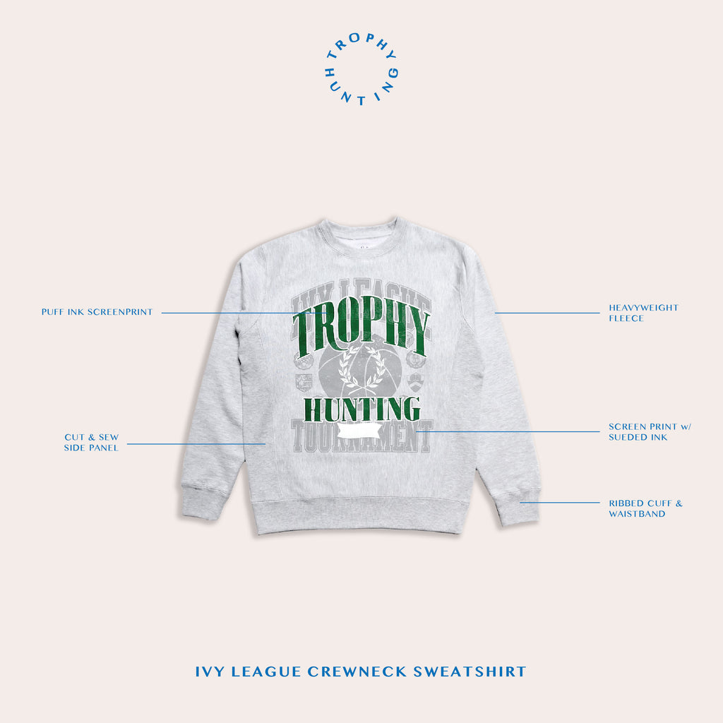 IVY LEAGUE CREW - GREY HEATHER