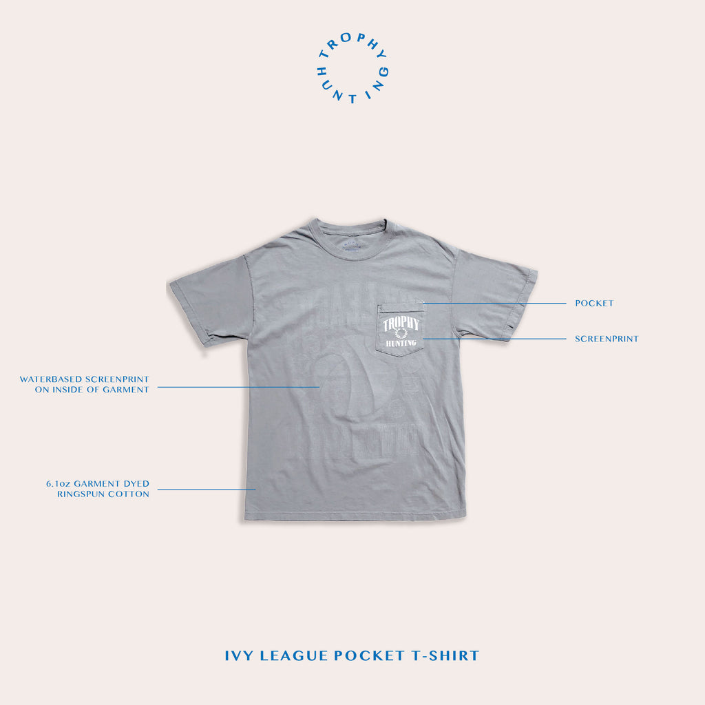 IVY LEAGUE POCKET TEE - GRANITE