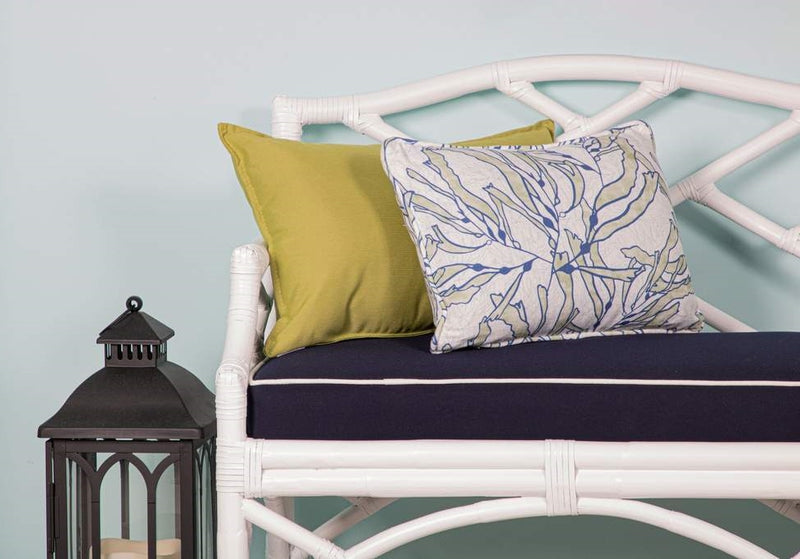 Chinese_Chippendale_Bench_White_with_Navy_Cushion_and_White_Piping