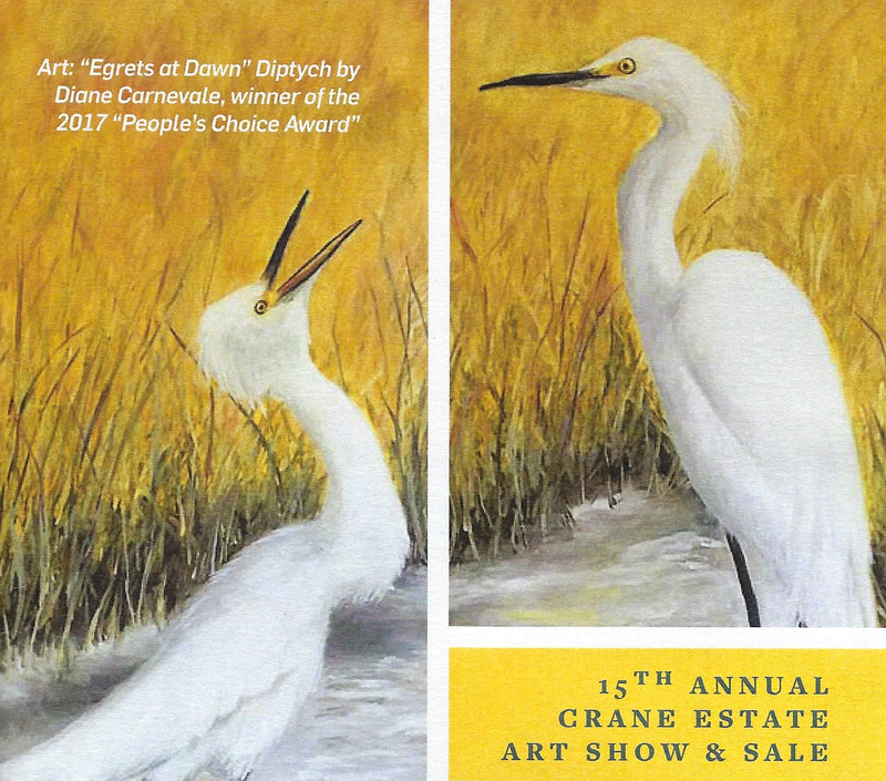Diane Carnevale EGRETS AT DAWN Diptych