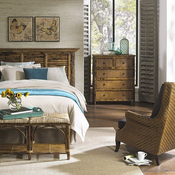 Bedroom Furnished with Kenian Rattan Furniture