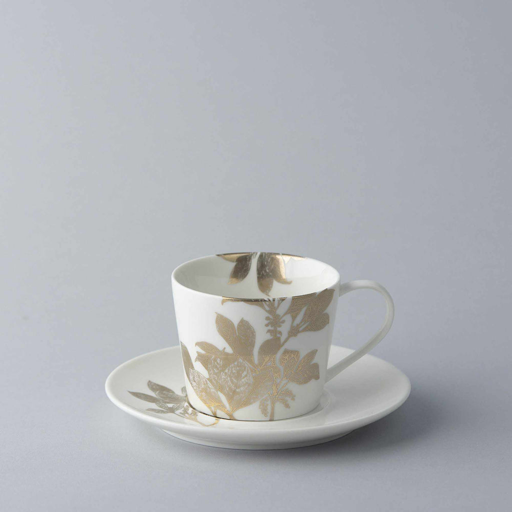 Arbor Gold Floral Tea Cup and Saucer