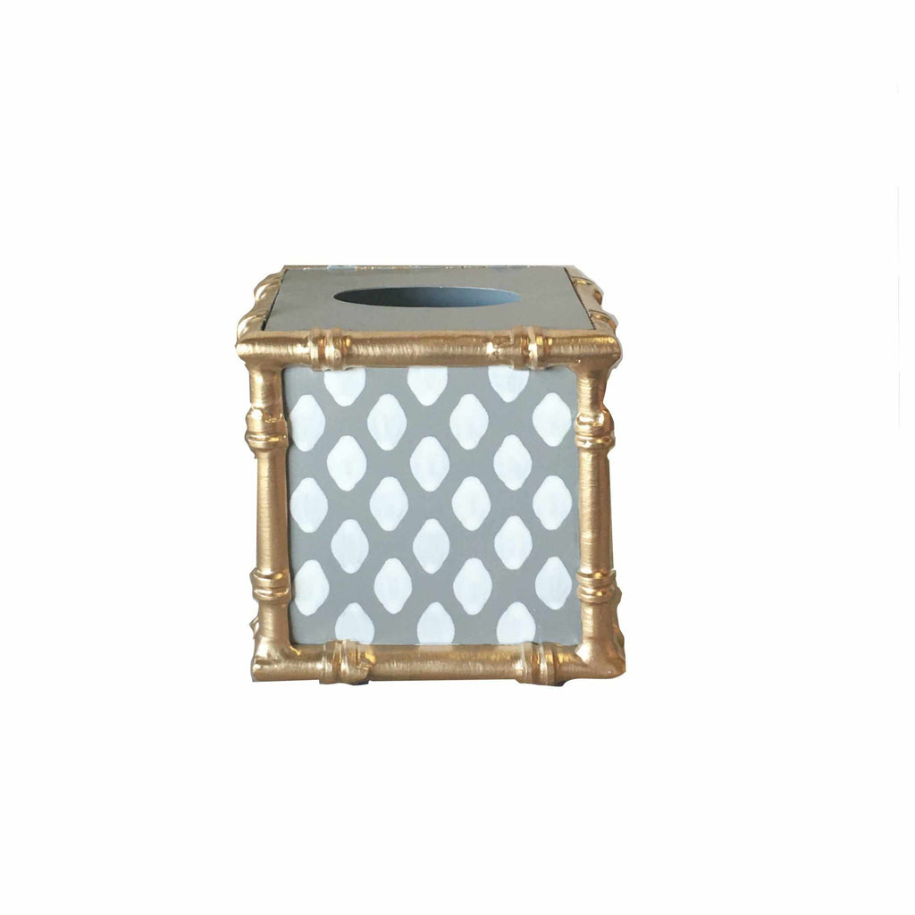 Bamboo Wastebasket in Grey Parsi-Room Tonic