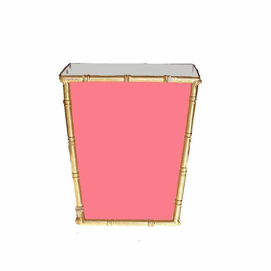 Bamboo Wastebasket in Pink-Room Tonic