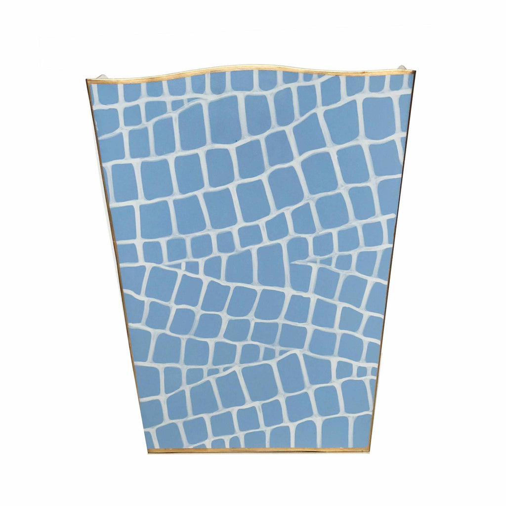 Blue Croc Wastebasket-Room Tonic