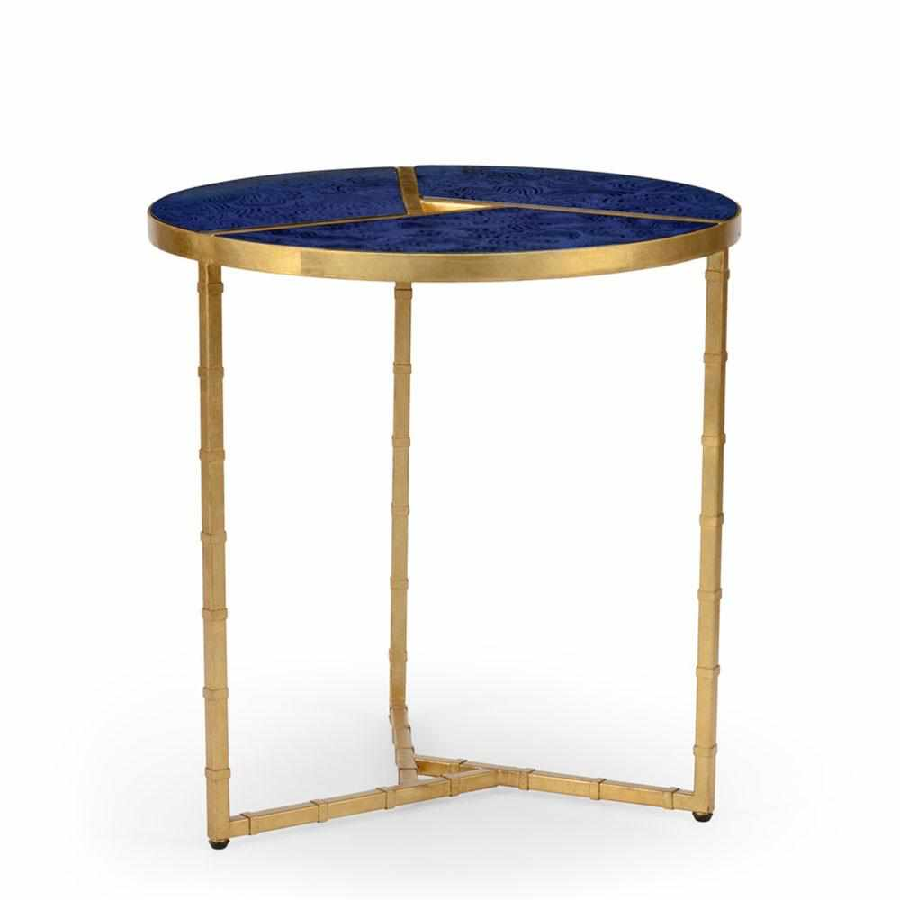 Bradshaw Antique Gold Bamboo Side Table 382486