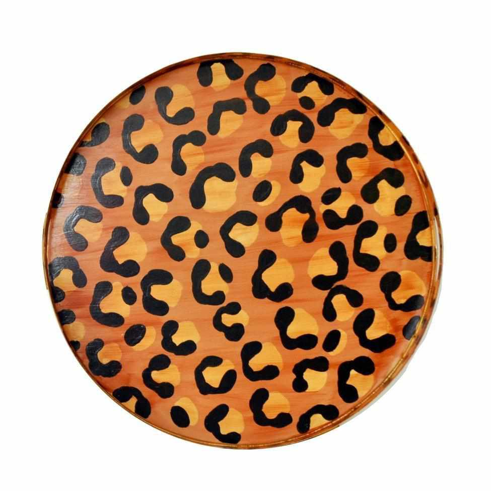 Brown Leopard Tray, Small-Room Tonic