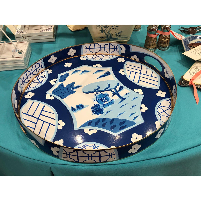 Dana Gibson Small Tray with Canton in Blue-Room Tonic