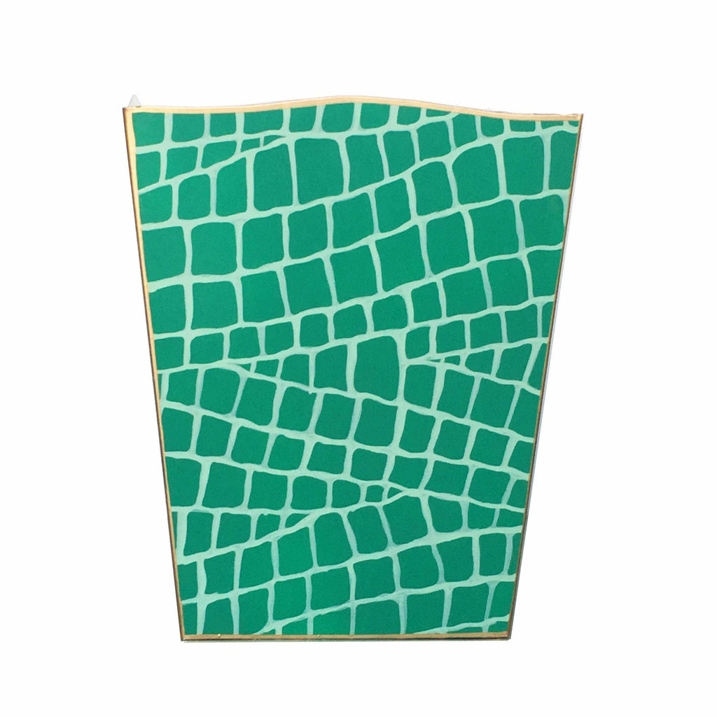 Emerald Croc Wastebasket-Room Tonic