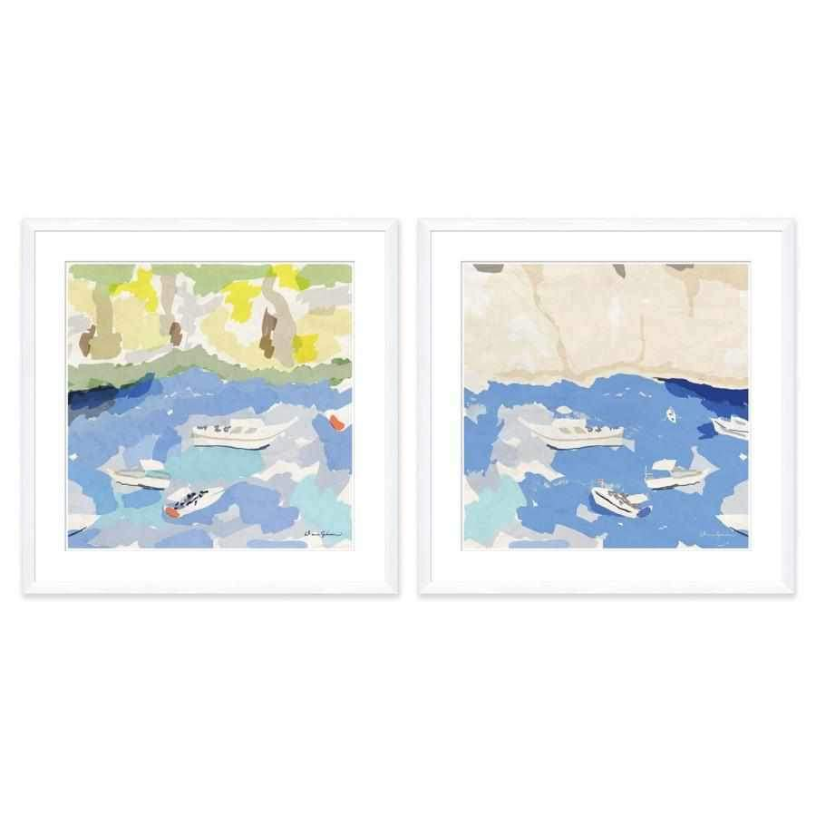 Fishing Bay, Early - Large Framed Giclée Print DG-0196A
