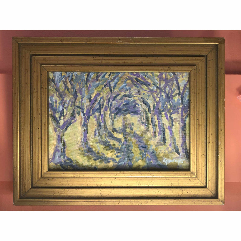 Framed Oil on Canvas by Diane Carnevale - Appleton Farms Allee-Room Tonic