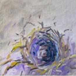 Framed Oil on Canvas by Diane Carnevale - Bird's Nest-Room Tonic