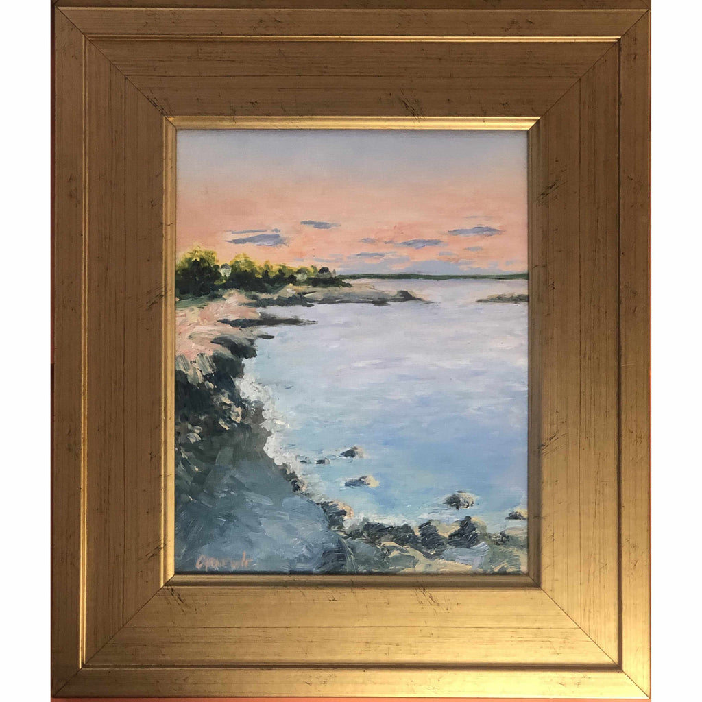 Framed Oil on Canvas by Diane Carnevale - Castle Rock-Room Tonic
