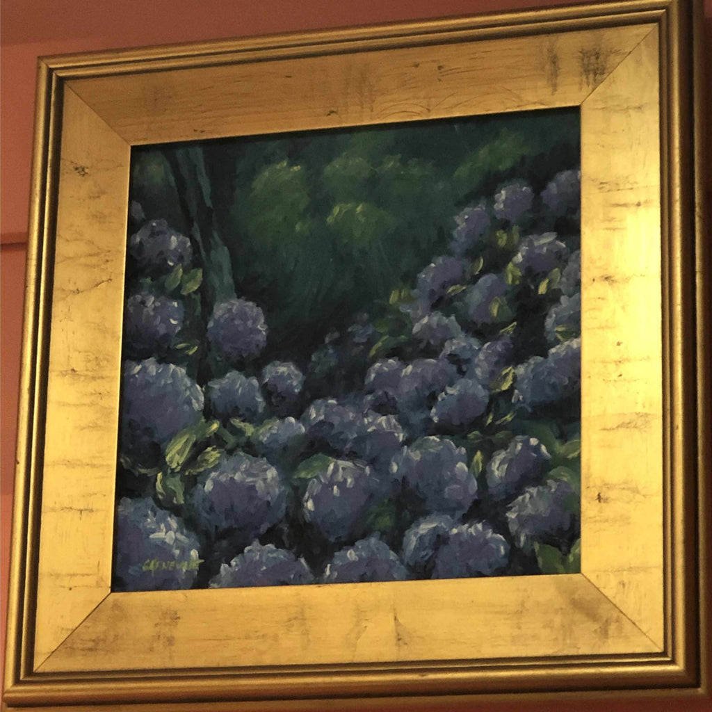 Framed Oil on Canvas by Diane Carnevale - Hydrangeas-Room Tonic