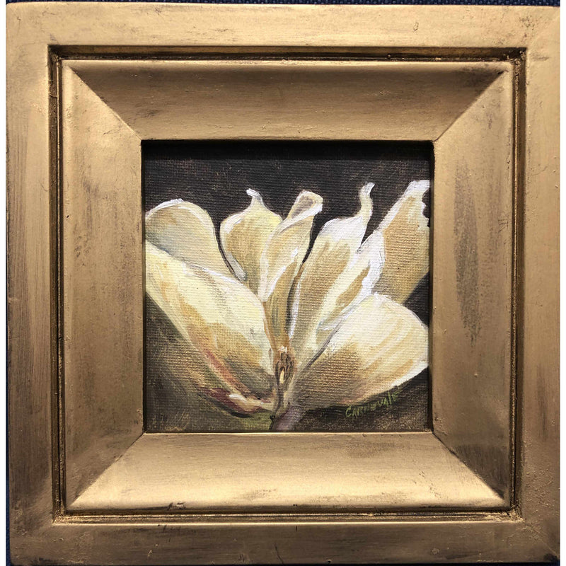 Framed Oil on Canvas by Diane Carnevale - Madame Butterfly Blossom-Room Tonic