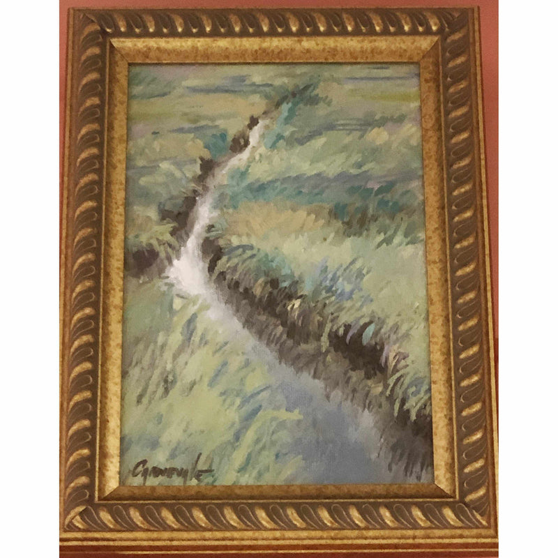 Framed Oil on Canvas by Diane Carnevale - Manchester Marsh-Room Tonic
