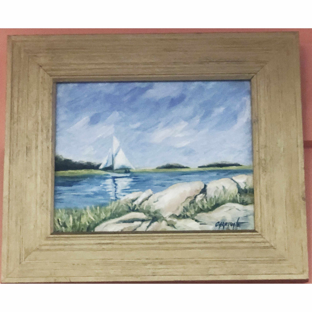 Framed Oil on Canvas by Diane Carnevale - One Fine Day-Room Tonic