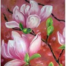 Framed Oil on Canvas by Diane Carnevale - Pink Pink Magnolia-Room Tonic