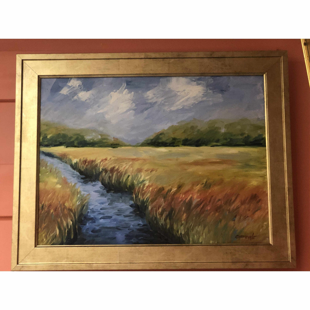Framed Oil on Canvas by Diane Carnevale - Radiance-Room Tonic